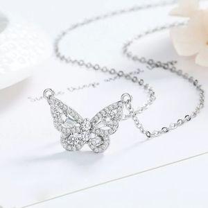 🌸 NEW Silver Diamond Butterfly Necklace